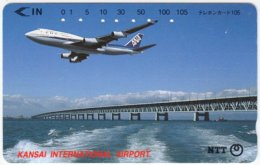 JAPAN F-661 Magnetic NTT [331-366] - Traffic, Airplane - Used - Japan