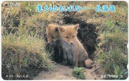 JAPAN F-689 Magnetic NTT [110-011] - Animal, Fox - Used - Japan