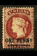 1864-80 1d Lake (Type B) Perf 14 X 12½, SG 21, Fine Mint For More Images, Please Visit Http://www.sandafayre.com/itemdet - Saint Helena Island