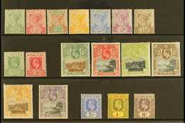 "1890-1911 OLD TIME MINT SELECTION Presented On A Stock Card & Includes The 1890-97 ""Tablet"" Set, 1902 KEVII Set, 1903 KE - Saint Helena Island"