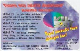 LITUHANIA A-196 Magnetic Telekomas - 25 Units - Used - Lithuania