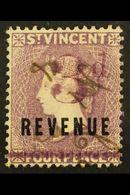 REVENUE STAMP 1888 3d On 4d Lilac, Barefoot 21, Fine Used. For More Images, Please Visit Http://www.sandafayre.com/itemd - St.Vincent (...-1979)