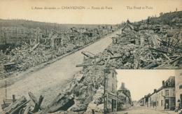 02 CHAVIGNON /l'Aisne Dévastée - Route De Paris / - Andere Gemeenten