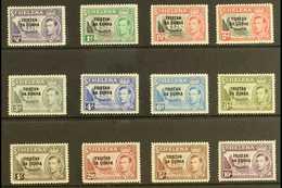 1952 KGVI Opt'd Set, SG 1/12, Fine Mint (12 Stamps) For More Images, Please Visit Http://www.sandafayre.com/itemdetails. - Tristan Da Cunha