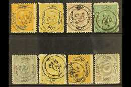 1865-75 BULGARIAN FORERUNNERS A Seldom Seen Range Of Turkish Issues Bearing Double-lined Circular Cancels From Zagra, No - Turkey