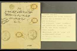 1881 Registered Envelope (opened For Display) From Yenisehir To Kadikoy (Constantinople) Bearing On Address Side The 187 - Turkey