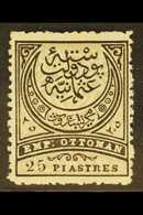 1884-86 25pi Black And Grey-olive Perf 13½ (Michel 50 A, SG 100), Fine Mint, Fresh. For More Images, Please Visit Http:/ - Turkey