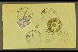 """USED IN IRAQ 1903 Cover Addressed In Arabic To Persia, Bearing 1901 1pi Foreign Mail Tied By Bilingual """"KERBELA"""" Cds Can - Turkey"""