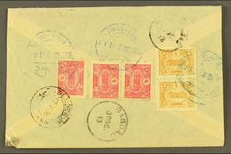 USED IN IRAQ 1913 Cover Addressed In Arabic To Yazd (Persia), Bearing On Reverse 1913 5pa Pair & 20pa (x3 Inc Pair) Tied - Turkey