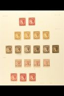 1867-95 FINE MINT COLLECTION On Album Pages, Includes 1867 1d Dull Rose (no Wmk) X2, 1873-79 1d Dullrose-lake X2 And 1d  - Turks And Caicos
