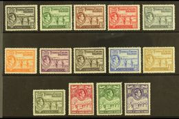 1938-45 Complete Set, SG 194/205, Very Fine Mint, Fresh. (14 Stamps) For More Images, Please Visit Http://www.sandafayre - Turks And Caicos
