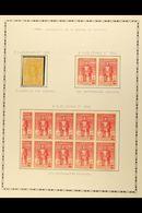 1930 BOLIVAR CENTENARY VARIETIES Includes 5c Yellow Mint, Scott 290, With Part Of Impression Missing From Top Left Corne - Venezuela