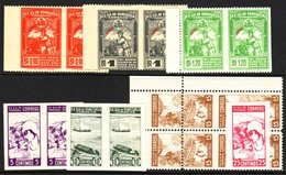 1930s PERFORATION ERRORS Attractive Selection Including Amateur Baseball 90c, 1b And 1b20 In Pair Imperf Between, 1937 5 - Venezuela