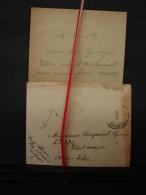 Mil. Let. 7. Lettre D'Albert Denis Un Poilu à Un Autre Poilu évacué Vers Calais - War 1914-18