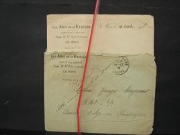 Mil. Let. 9. Lettre Des Amis De La Belgique En 1916 à Un Poilu. Annonce  Que Suzanne Legras Sera Sa  Marraine. - Oorlog 1914-18