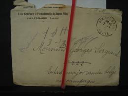 Mil. Let. 15. Lettre De Melle E Brun à Un Poilu En 1918. Entête De L'école Supérieure D'Aix-les-Bains - War 1914-18