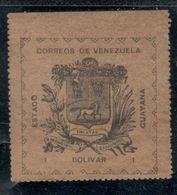 Venezuela1903:REVOLUTIONARY STAMPS Michel8III (mng*) Cat.Value  40Euros(if With Gum) - Venezuela
