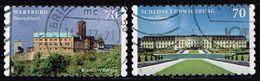 Bund 2017, Michel# 3311 - 3312 O Wartburg, Schloss Ludwigsburg Selbstklebend, Self-adhesive - BRD