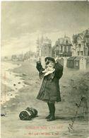 Façon Bergeret: Monsieur Bébé à La Mer 6 CPA - Illustrateurs & Photographes