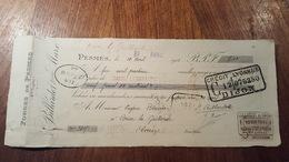 MANDAT A ORDRE DE  1913 FORGES DE PESMES  (HTE SAONE) - Bills Of Exchange