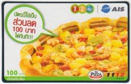 THAILAND D-287 Prepaid 1-2-call/AIS - Food, Traditional Meal - Used - Thailand