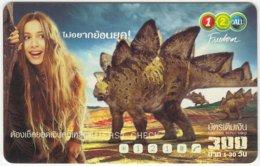 THAILAND D-293 Prepaid 1-2-call/AIS - Prehistoric Animal, Dinosaur - Used - Thailand