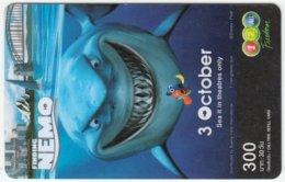 THAILAND D-318 Prepaid 1-2-call/AIS - Cinema, Finding Nemo - Used - Thailand