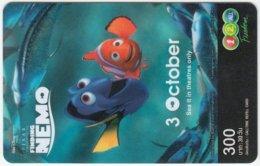 THAILAND D-319 Prepaid 1-2-call/AIS - Cinema, Finding Nemo - Used - Thailand