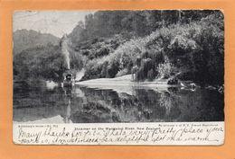 Steamer Wanganui River New Zealand 1905 Postcard Mailed - New Zealand