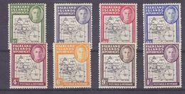 Falkland Islands Dependencies 1946 Map 8v * Mh (mint Hinged) (37323) - Zuid-Georgia