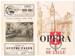 PROGRAMMA  OPERA DE LILLE 1949/1950  MADAME BUTTERFLY  PUCCINI - Programmes