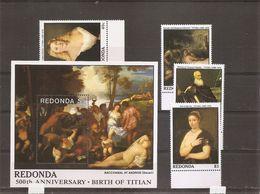 Peintures - LeTitien ( Série De 4 Timbres + 1 BF XXX -MNH- De Redonda) - Arts