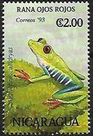 Nicaragua - MNH - 1993 - Red-eyed Tree-Frog ( Agalychnis Callidryas) - Kikkers