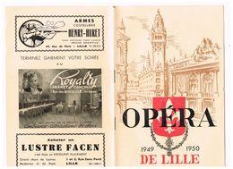 PROGRAMMA  OPERA DE LILLE 1949/1950  LA  TRAVIATA  VERDI - Programma's