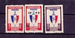 Indochine N 281 à 283** - Unused Stamps