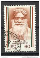 INDIA, 1988, Baba Kharak Singh, Nationalist, 1 V,   FINE USED - India