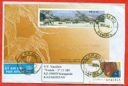 Namibia 2003.Envelope Passed The Mail. Elephants. - Namibia (1990- ...)