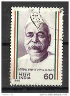 India, 1988, Birth Centenary Of Pundit Govind Vallabh Pant, Political Leader, 1 V, FINE USED - India