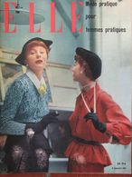 ELLE N°199 (19 Sept 1949) Myrna Loy - Quatre Gardes Robes - Fashion