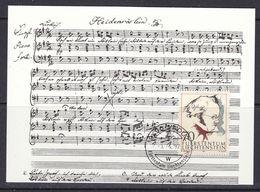 Liechtenstein 1997 Franz Schubert 1v Maxicard (37328) - Maximum Cards