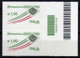 Italia 2013 Ordinaria Euro 1,90 Con Codice A Barre - 6. 1946-.. Republic
