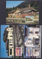 Liechtenstein 1997 125J. Eisenbahn 3v 3 Maxicards  (37329) - Maximum Cards