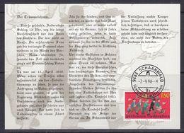 Liechtenstein 1998 Revolutionsjahr 1848 1v Maxicard (37330) - Maximum Cards
