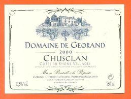 étiquette Vin De Cotes Du Rhone Villages Chusclan Domaine De Georand 2000 - 75 Cl - Côtes Du Rhône