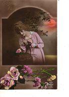 FANTAISIE--BONNE FETE--( Fleurs )--FEMME-FRAU-LADY--jolie Jeunne Femme--voir 1 Scan - Femmes