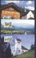 Liechtenstein 1997 Dorfsansichten 3v 3 Maxicards (37332) - Maximum Cards