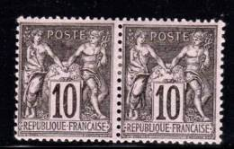 FRANCE - TYPE SAGE -  N° 103 *  En Paire - 1898-1900 Sage (Type III)