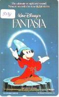 Télécarte Japon * 110-195314 * DISNEY * MOVIE POSTER COLLECTION  (5131) MICKEY Magie Cinema * FANTASIA * Japan Phonecard - Disney