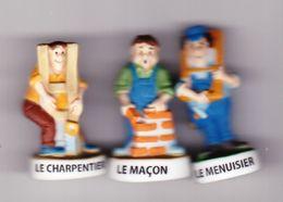 3 Fèves Mat Le Maçon Le Menuisier Le Charpentier Série Bricoleurs Du Dimanche - Characters