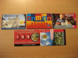TK Ungarn 5 Verschiedene Karten Mit Chip Gebraucht - Hungary